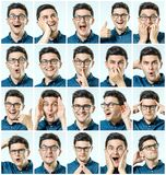 Mosaic of man expressing different emotions Stock Image