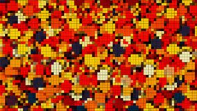 Mosaic with many little colorful square pieces, computer generated background, 3D rendering. Mosaic with many little colorful square pieces, computer generated stock illustration