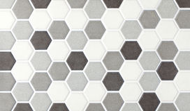 Mosaic marble hexagonal tiles Stock Images