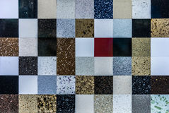 Mosaic marble stone wall Royalty Free Stock Photography