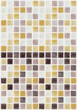 Mosaic marble tiles colored square Royalty Free Stock Photos
