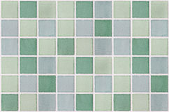 Mosaic marble tiles green square Royalty Free Stock Photo