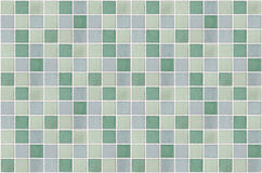 Mosaic marble tiles green square Stock Photography