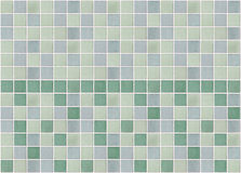 Mosaic marble tiles green square Stock Image