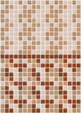 Mosaic marble tiles pink red square Stock Image