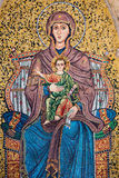 Mosaic of Mary and the baby Jesus. A colorful mosaic of the Virgin Mary and the sweet baby Jesus Stock Photography