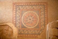 Mosaic. At the Masada fortress ruins on the Masada plateau, Israel stock photos