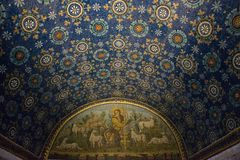 Mosaic in Mausoleum of Galla Placidia Stock Images