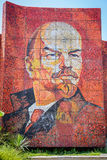 Mosaic monument of Vladimir Lenin on street of Sochi Royalty Free Stock Photography