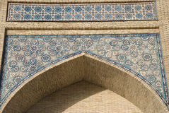 Mosaic of mosque Hazrati Imom Royalty Free Stock Photo