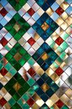 Mosaic multi-colored mirror background. Thai decoration stock photography