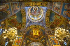 Mosaic murals in the Church of the Resurrection of Christ in St. Petersburg Stock Photography