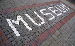 Mosaic museum sign Stock Image