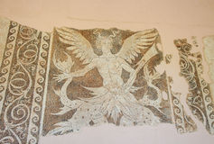 Mosaic of a mythological creature at the Archeological Museum in Stock Photos