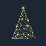 Mosaic New Year tree. Holiday background Royalty Free Stock Images