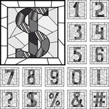 Mosaic numeric figures patterned lines. Royalty Free Stock Photos