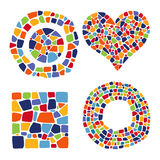 Mosaic objects in different forms Royalty Free Stock Photo