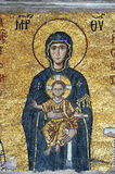 Mosaic Of Jesus Christ And Virgin Mary Royalty Free Stock Images