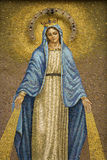 Mosaic Of The Virgin Mary Wearing A Crown Royalty Free Stock Photos
