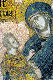 Mosaic Of Virgin Mary And Jesus Christ Stock Photography