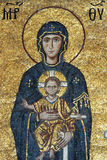 Mosaic Of Virgin Mary And Jesus Christ Stock Images