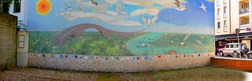 Mosaic by the old Jewish cemetery at Hamburger Straße royalty free stock photos