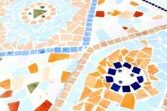 Mosaics old ceramic Spanish tiles,Spain Royalty Free Stock Image