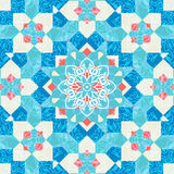 Mosaic ornament in arabic style Stock Photos