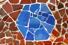 Mosaic ornament, Barcelona Stock Image