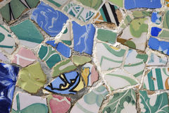 Mosaic ornament, Barcelona royalty free stock images