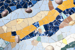 Mosaic ornament, Barcelona Royalty Free Stock Photo