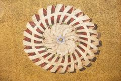Mosaic ornament from facade of St. Mark`s Basilica in Venice stock photography