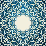 Mosaic ornamental lace frame, abstract background Royalty Free Stock Photography