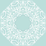 Mosaic ornamental lace frame, abstract background Royalty Free Stock Photo