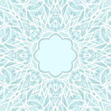 Mosaic ornamental lace frame, abstract background Stock Image