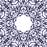 Mosaic ornamental lace frame, abstract background Royalty Free Stock Image