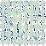 Mosaic ornamental seamless pattern in shades of green Stock Photos