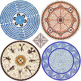 Mosaic ornaments. On a white background Royalty Free Stock Photo