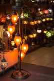 Mosaic Ottoman lamps from Grand Bazaar Stock Photos