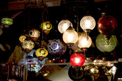 Mosaic Ottoman lamps from Grand Bazaar Stock Photography
