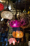 Mosaic Ottoman lamps from Grand Bazaar Stock Images