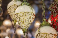 Mosaic Ottoman lamps from Grand Bazaar Stock Image