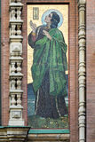 Mosaic on the outside of the Church of the Savior on Blood Stock Photo