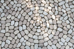 Mosaic of oval cobblestones royalty free stock images