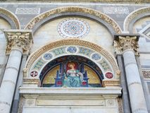 Mosaic Over Entrance to Pisa Bapistery Stock Images