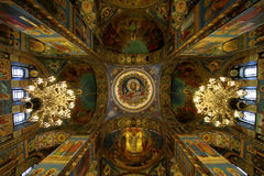 The mosaic paintings of the Church of the Savior on Blood in Sai Stock Photos