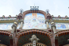 Mosaic at Palau de la Música Catalana, Barcelona Royalty Free Stock Image