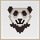Mosaic Panda Stock Photo
