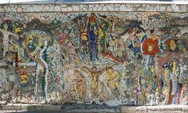Mosaic panel in Saint-Petersburg. SAINT- PETERSBURG, RUSSIA - JULY 10, 2016: Mosaic panel at the courtyard of Minor Academy of art in Saint-Petersburg, Russia Stock Photos