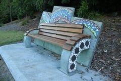 Mosaic park bench Stock Image